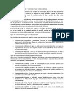 TIPOS DE CONTAMINACIÓN Y SUS PRINCIPALES CONSECUENCIAS