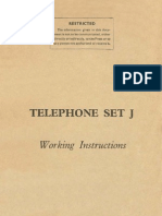 Telephone Set J - Working Istructions (1945)