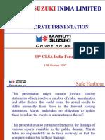 Maruti Suzuki CLSA Conf