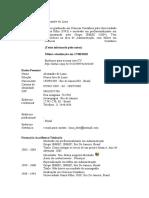 Curriculum Lattes Alexandre de Lima