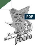 Pontiac Fiero workshop manual