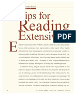 tips-reading extensively