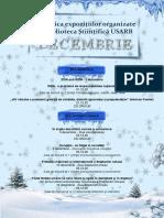 Tematica expoziţiilor organizate în luna decembrie de Biblioteca Ştiinţifică USARB