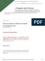 DDieu te visite pour réécrire ton histoire et changer ton nom - Le blog de la Chapelle des Princes