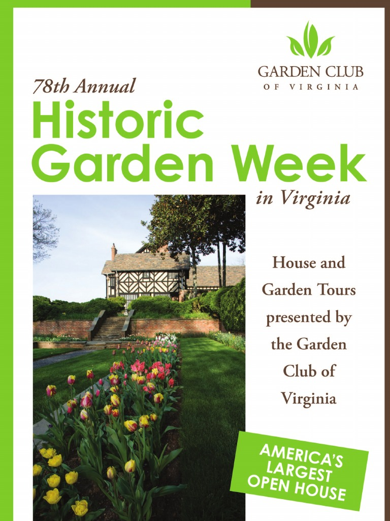 78th Annual Historic Garden Week in Virginia | Monticello | Guide Book