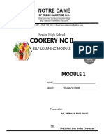 Cookery Module 1