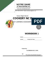 Cookery Workbook 1