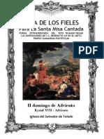 II Domingo de Adviento. Guía de los fieles para la santa misa cantada. Kyrial XVII