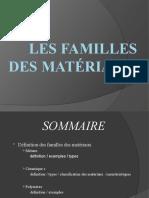 Les familles des matériaux 2