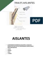 materiales aislantes