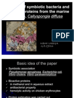 Isolation of symbiotic bacteria and bioactive proteins from