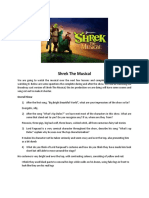 shrek the musical - watch the show worksheet