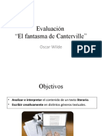 Evaluación El fantasma de Canterville 7ºB