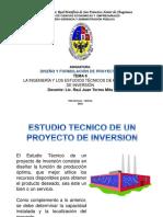 LA INGENIERÍA Y LOS ESTUDIOS TÉCNICOS DE LOS PROYECTOS DE INVERSIÓN PÚBLICA
