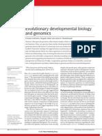 evo devo & genomics