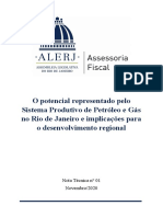 NT 01 - O potencial representado pelo Sistema Produtivo de Petróleo e Gás no Rio de Janeiro e implicações para o desenvolvimento regional