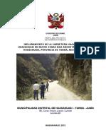 Perfil Carretera Huasahuasi