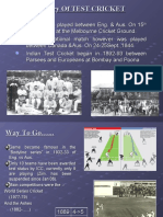 History Of TEST CRICKET