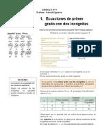 Módulo 9 Ecuaciones de Primer grado (Sistemas)