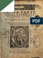 Geografia - Strabone - Libri 1 - 10 - tradotto dal greco da Alfonso Buonacciuoli - Ferrara 1562