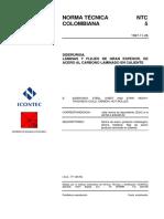 NTC 5 SIDERURGIA LÁMINAS Y FLEJES DE GRAN ESPESOR, DE ACERO AL CARBONO LAMINADO EN CALIENTE 19971126