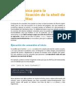 Guía básica para la personalización de la shell de Linux y Mac