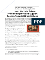 U.S.-based Marxists Subvert Friendly Regimes and Support Foreign Terrorist Organizations