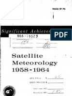 Signifigant Achievements in Satellite Meteorology 1958-1964