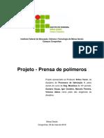 Relatório Prensa de Polimeros