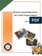 Abraham Lincoln High School WASC Progress Report 2011