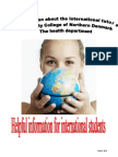 Brochure about International tutor 2010