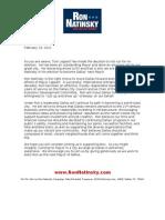 Natinsky Fundraising Letter