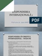 5. RASPUNDEREA INTERNATIONALA 1