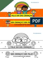 coroa dia das crianças - SER CRIANÇA É SER FELIZ