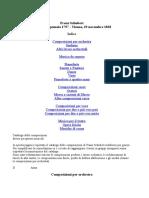 Franz Schubert - Catalogo delle Opere con guide all'ascolto e link a Youtube (word)