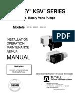 1832_KSV_Installation operation maintenance repair manual - Single stage, rotary vane pumps