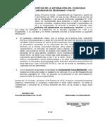 3.- ACTA DE RECEPCIÓN DE LA INFORMACIÓN DEL CIUDADANO COLABORADOR