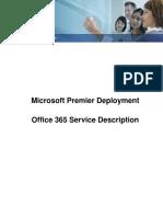 Microsoft Premier Deployment. Office 365 Service Description