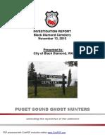 PSGH Black Diamond Cemetery Report