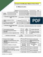 Check liste de Vérification Début et Fin Série