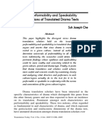 Suh - The Performability and Speakability Dimensions of Translated Drama Texts