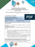 Guia de Actividades y Rúbrica de Evaluación Fase 5 Propuesta Final.