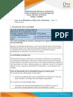 Guia de Actividades y Rúbrica de Evaluación - Unidades 1 - 2 - 3 - Paso 5 - Informe Final