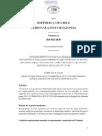 sentencia rol Rol 9232-2020 TC