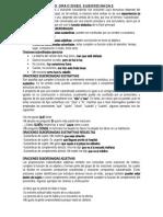 DEFINICIÓN DE ORACIONES SUBORDINADAS