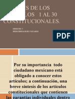ANALISIS DE LOS ARTICULOS   1 AL 30 CONSTITUCIONALES