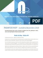 Radar Do NISP Outubro - Dezembro 2020.