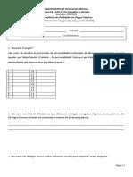 Teste diagnóstico - Francês LEII