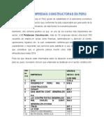 Importantes Empresas Constructoras en Perú