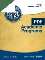 Graduate School USA Academic Programs Catalog